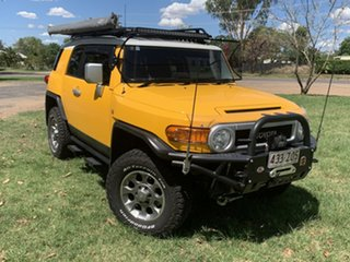 2012 Toyota FJ Cruiser GSJ15R Hornet Yellow & White Roof 5 Speed Automatic Wagon