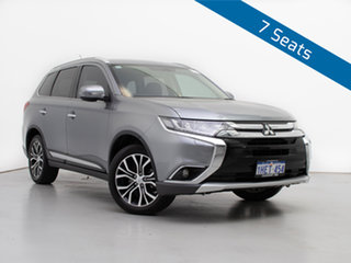 2016 Mitsubishi Outlander ZK MY16 Exceed (4x4) Silver Continuous Variable Wagon.
