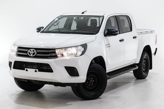 2018 Toyota Hilux GUN136R SR Double Cab 4x2 Hi-Rider White 6 Speed Sports Automatic Utility.