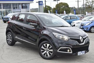 2015 Renault Captur J87 Expression EDC Black 6 Speed Sports Automatic Dual Clutch Hatchback.