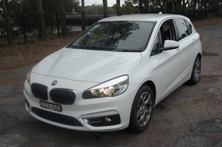 2015 BMW 2 Series F45 218i Active Tourer Steptronic Sport Line White 6 Speed Automatic Hatchback.