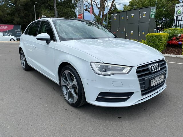 Used Audi A3 8V MY15 Attraction Sportback S Tronic Botany, 2014 Audi A3 8V MY15 Attraction Sportback S Tronic White 7 Speed Sports Automatic Dual Clutch
