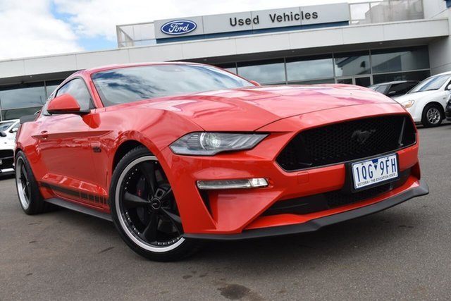Used Ford Mustang FN 2019MY GT Essendon Fields, 2018 Ford Mustang FN 2019MY GT Race Red 10 Speed Sports Automatic Fastback