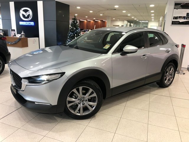 New Mazda CX-30 DM2W7A G20 SKYACTIV-Drive Evolve Alexandria, 2020 Mazda CX-30 DM2W7A G20 SKYACTIV-Drive Evolve Sonic Silver 6 Speed Sports Automatic Wagon