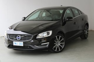 2016 Volvo S60 F Series MY17 T5 Adap Geartronic Luxury Black 8 Speed Sports Automatic Sedan