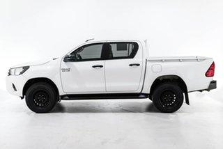 2018 Toyota Hilux GUN136R SR Double Cab 4x2 Hi-Rider White 6 Speed Sports Automatic Utility