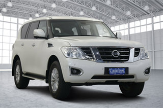 2018 Nissan Patrol Y62 Series 4 TI White 7 Speed Sports Automatic Wagon.
