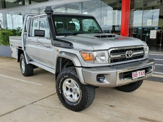 2018 Toyota Landcruiser GXL Silver 5 Speed Manual Dual Cab.