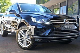 2017 Volkswagen Touareg 7P MY18 V6 TDI Tiptronic 4MOTION Black 8 Speed Sports Automatic Wagon.