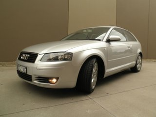 2004 Audi A3 8P Ambition Tiptronic Silver steel 6 Speed Sports Automatic Hatchback.