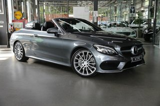 2016 Mercedes-Benz C-Class A205 C300 9G-Tronic Grey 9 Speed Sports Automatic Cabriolet.