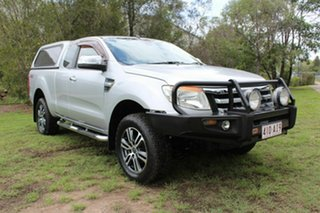 2012 Ford Ranger PX XLT Super Cab Silver 6 Speed Manual Utility