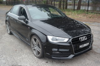 2016 Audi A3 8V MY16 Ambition S Tronic Black 7 Speed Sports Automatic Dual Clutch Sedan.