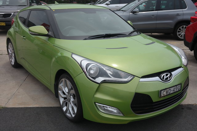 Used Hyundai Veloster FS Coupe D-CT Maryville, 2012 Hyundai Veloster FS Coupe D-CT Green 6 Speed Sports Automatic Dual Clutch Hatchback