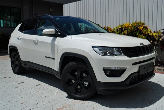 New Jeep Compass M6 MY20 Night Eagle FWD Cairns, 2020 Jeep Compass M6 MY20 Night Eagle FWD Vocal White 6 Speed Automatic Wagon