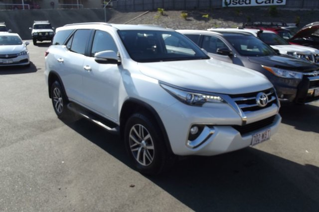 Used Toyota Fortuner GUN156R Crusade i-MT South Gladstone, 2015 Toyota Fortuner GUN156R Crusade i-MT White 6 Speed Manual Wagon