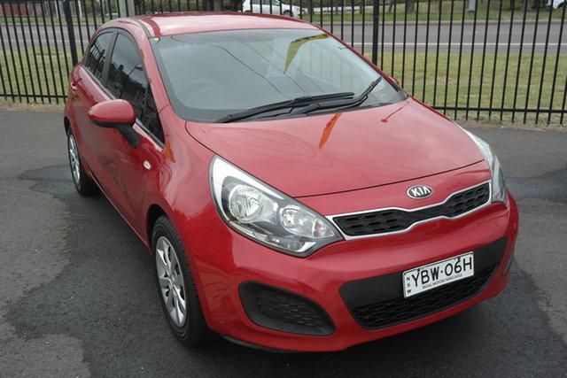 Used Kia Rio UB MY13 S Maryville, 2013 Kia Rio UB MY13 S Red 6 Speed Manual Hatchback