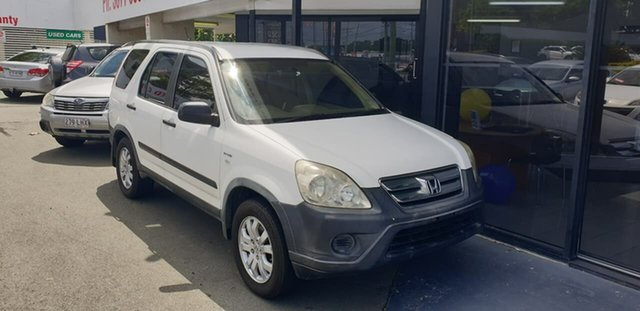 Used Honda CR-V RD MY2006 4WD Mount Gravatt, 2006 Honda CR-V RD MY2006 4WD White 5 Speed Automatic Wagon