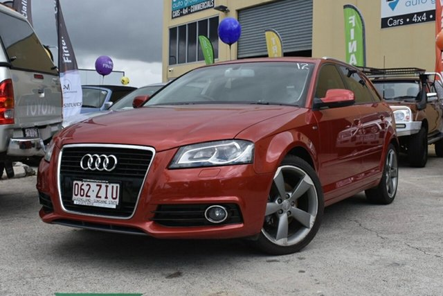 Used Audi A3 8P MY13 Sportback 1.8 TFSI Ambition Capalaba, 2012 Audi A3 8P MY13 Sportback 1.8 TFSI Ambition Red 7 Speed Auto Direct Shift Hatchback