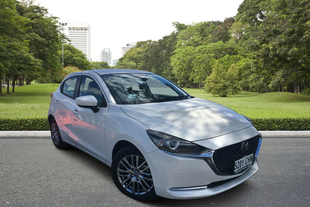Demo Mazda 2 DJ2HAA G15 SKYACTIV-Drive GT Paradise, 2020 Mazda 2 DJ2HAA G15 SKYACTIV-Drive GT White Pearl 6 Speed Sports Automatic Hatchback