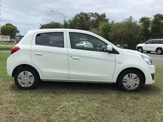 2019 Mitsubishi Mirage LA MY20 ES White 1 Speed Constant Variable Hatchback.