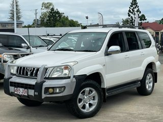 2006 Toyota Landcruiser Prado GRJ120R GXL White 5 Speed Automatic Wagon.