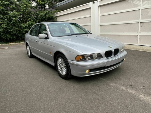 Used BMW 5 Series E39 MY02 530i Steptronic Executive Zetland, 2001 BMW 5 Series E39 MY02 530i Steptronic Executive Silver 5 Speed Sports Automatic Sedan