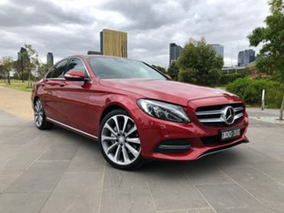 2015 Mercedes-Benz C-Class W205 C250 BlueTEC 7G-Tronic + Red 7 Speed Sports Automatic Sedan.