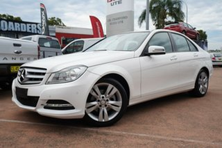 2014 Mercedes-Benz C200 W204 MY14 White 7 Speed Automatic G-Tronic Sedan.
