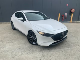 2020 Mazda 3 BP2H76 G20 SKYACTIV-MT Touring Snowflake White 6 Speed Manual Hatchback.