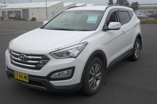 2013 Hyundai Santa Fe DM MY13 Elite White 6 Speed Sports Automatic Wagon.