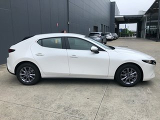 2020 Mazda 3 BP2H7A G20 SKYACTIV-Drive Pure Snowflake White 6 Speed Sports Automatic Hatchback.