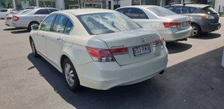 2011 Honda Accord 8th Gen MY11 VTi White 5 Speed Sports Automatic Sedan.