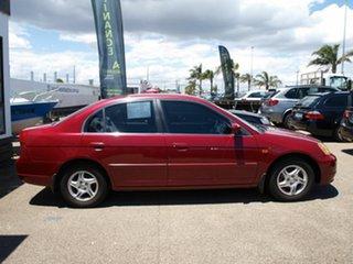 2002 Honda Civic 7th Gen MY2002 GLi Red 4 Speed Automatic Sedan.