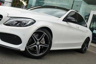 2016 Mercedes-Benz C200 205 MY16 Night Edition Polar White 7 Speed Automatic Sedan.