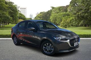2020 Mazda 2 DL2SAA G15 SKYACTIV-Drive Pure Machine Grey 6 Speed Sports Automatic Sedan.