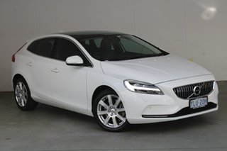 2016 Volvo V40 M Series MY16 T4 Adap Geartronic Luxury Ice White 6 Speed Sports Automatic Hatchback.