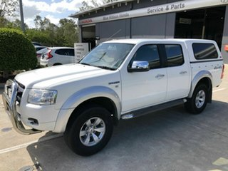 2008 Ford Ranger PJ XLT Crew Cab White 5 Speed Automatic Utility