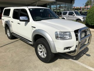 2008 Ford Ranger PJ XLT Crew Cab White 5 Speed Automatic Utility.