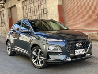 2020 Hyundai Kona OS.3 MY20 Highlander 2WD Dark Knight 6 Speed Automatic Wagon.