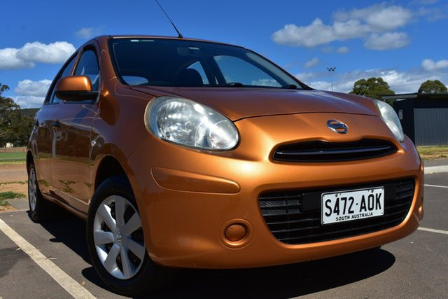 Used Nissan Micra K13 ST St Marys, 2011 Nissan Micra K13 ST Orange 4 Speed Automatic Hatchback