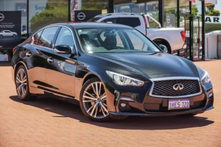 2018 Infiniti Q50 V37 S Premium Black 7 Speed Sports Automatic Sedan.