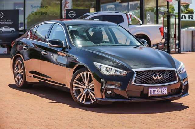 Used Infiniti Q50 V37 S Premium Gosnells, 2018 Infiniti Q50 V37 S Premium Black 7 Speed Sports Automatic Sedan