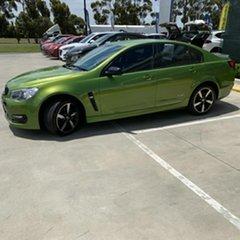 2016 Holden Commodore VF II MY16 SV6 Black Green 6 Speed Sports Automatic Sedan