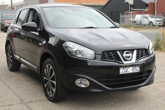 Used Nissan Dualis J10 Series 3 TI-L (4x2) West Footscray, 2013 Nissan Dualis J10 Series 3 TI-L (4x2) Black 6 Speed CVT Auto Sequential Wagon