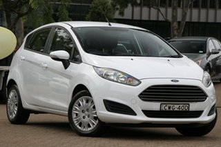 2014 Ford Fiesta WZ Ambiente White 6 Speed Automatic Hatchback.