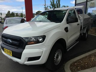 2016 Ford Ranger PX MkII XL 2.2 Hi-Rider (4x2) White 6 Speed Automatic Cab Chassis.