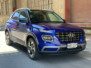 2020 Hyundai Venue QX.2 MY20 Elite Intense Blue 6 Speed Automatic Wagon.