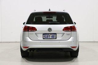 2016 Volkswagen Golf AU MY16 110 TDI Highline Silver 6 Speed Direct Shift Wagon