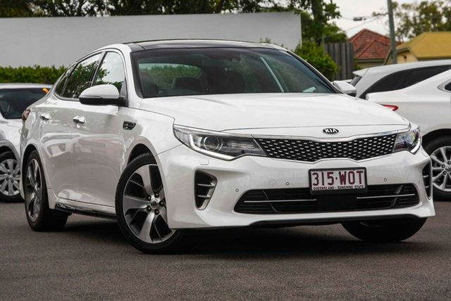 Used Kia Optima JF MY16 GT Mount Gravatt, 2016 Kia Optima JF MY16 GT White 6 Speed Sports Automatic Sedan